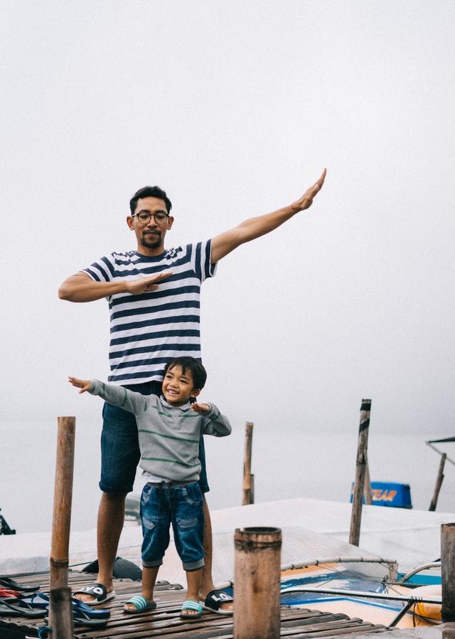 Bố và con